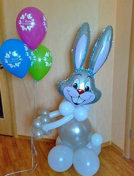 Заяц из воздушных шаров своими руками фото